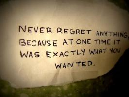 Regretting quote #1