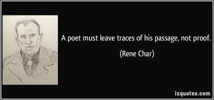 Rene Char's quote