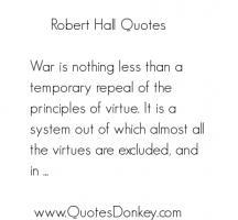 Robert Hall's quote