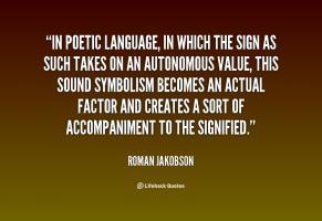Roman Jakobson's quote