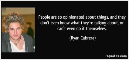 Ryan Cabrera's quote