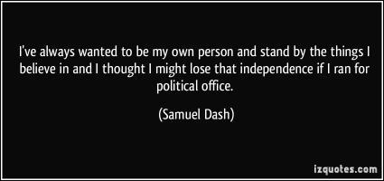 Sam Dash's quote