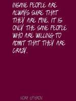 Sane People quote #2