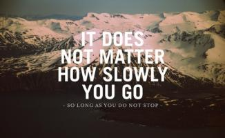 Slowness quote