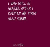 Solo Album quote