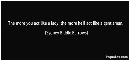 Sydney Biddle Barrows's quote #1