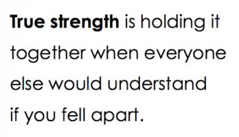 True Strength quote