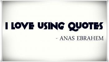 Using quote