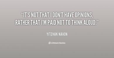 Yitzhak Navon's quote