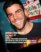 Zachary Quinto's quote